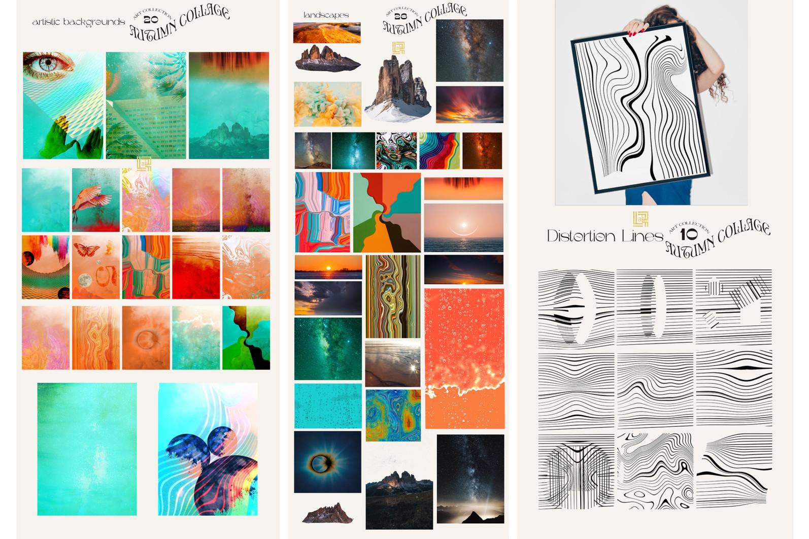 Autumn Collage. Surrealism - FB 3 -