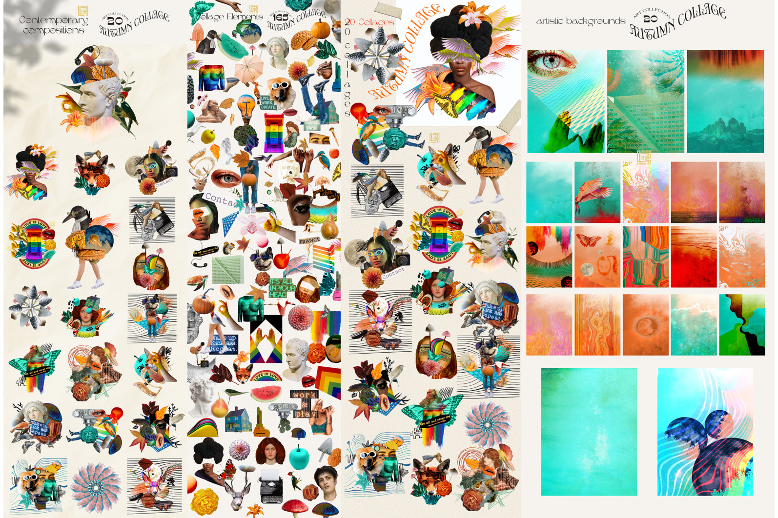 Autumn Collage. Surrealism - FB 4 -
