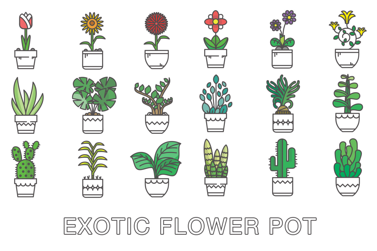 Flower Pot Icon - Cover 41 -