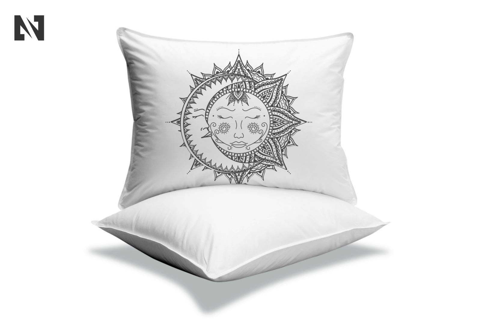 Sun and Moon Svg, Sun Mandala Svg, Moon Mandala Svg - B 3 -