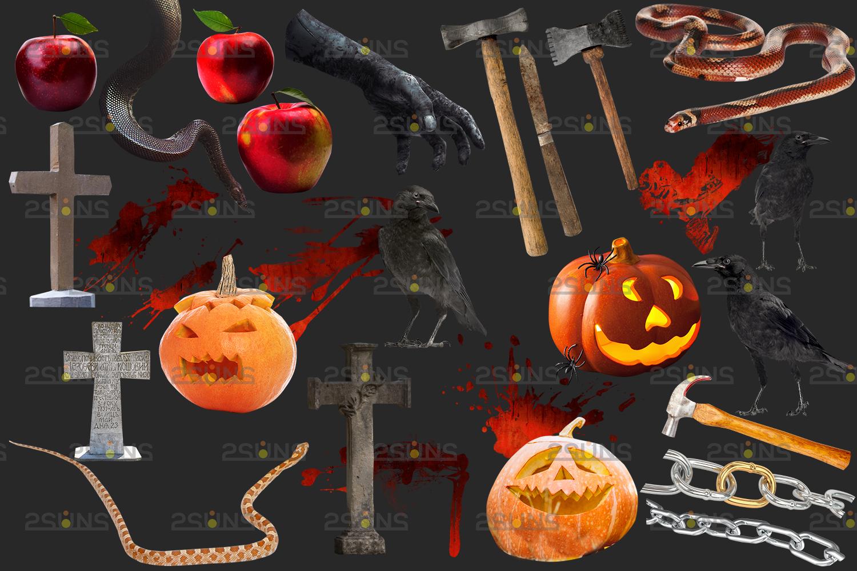 Halloween clipart & Halloween overlay, chains apple overlay, Blood splatter, Pumpkin overlay, snake - 002 5 -