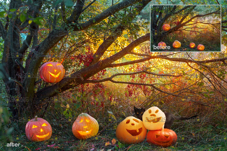 Halloween clipart & Halloween overlay, chains apple overlay, Blood splatter, Pumpkin overlay, snake - 009 5 -