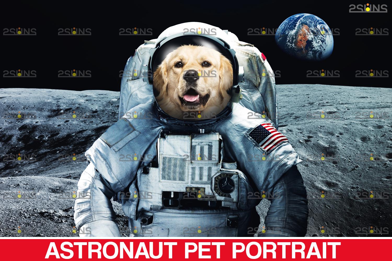 Astronaut Pet portrait template, & Digital pet art, Pet painting , Pet portrait, space royal pet - 001 24 -
