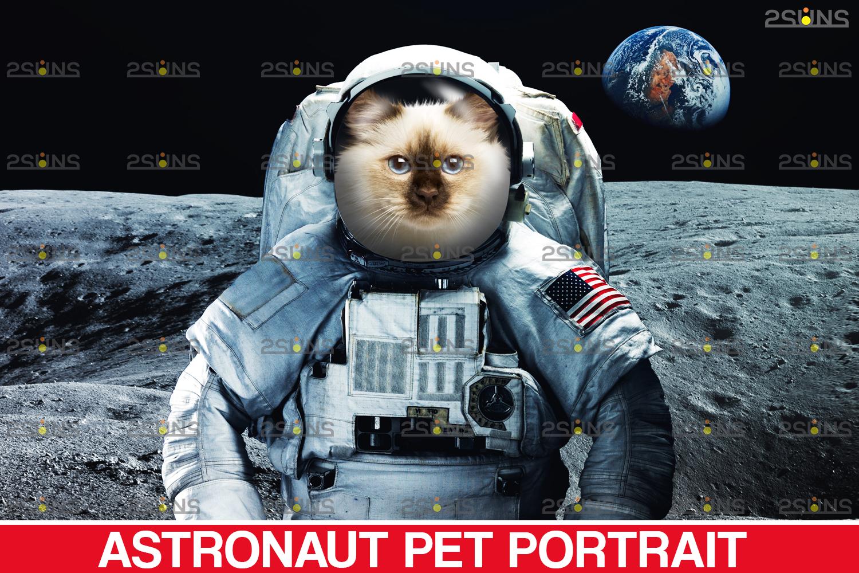 Astronaut Pet portrait template, & Digital pet art, Pet painting , Pet portrait, space royal pet - 002 23 -