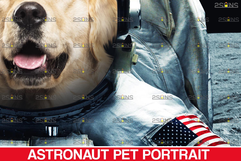 Astronaut Pet portrait template, & Digital pet art, Pet painting , Pet portrait, space royal pet - 004 23 -