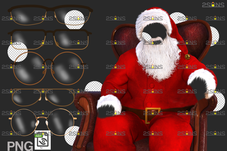 Santa Pet portrait template & Santa overlay, Christmas digital backdrop, Digital Pet - 007 23 -
