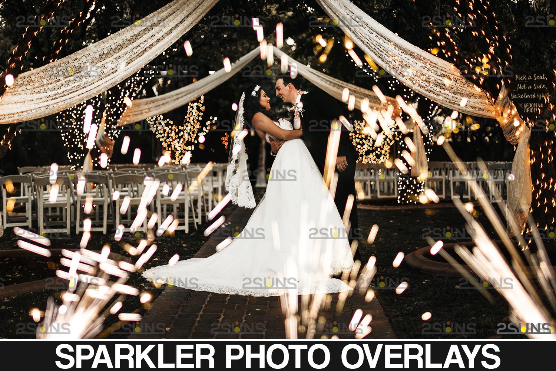 Sparkler overlay & Gold overlay, Fairy lights overlay, Wedding sparkler overlays, Bokeh lights, - 001 26 -
