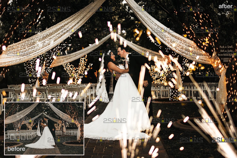 Sparkler overlay & Gold overlay, Fairy lights overlay, Wedding sparkler overlays, Bokeh lights, - 002 25 -