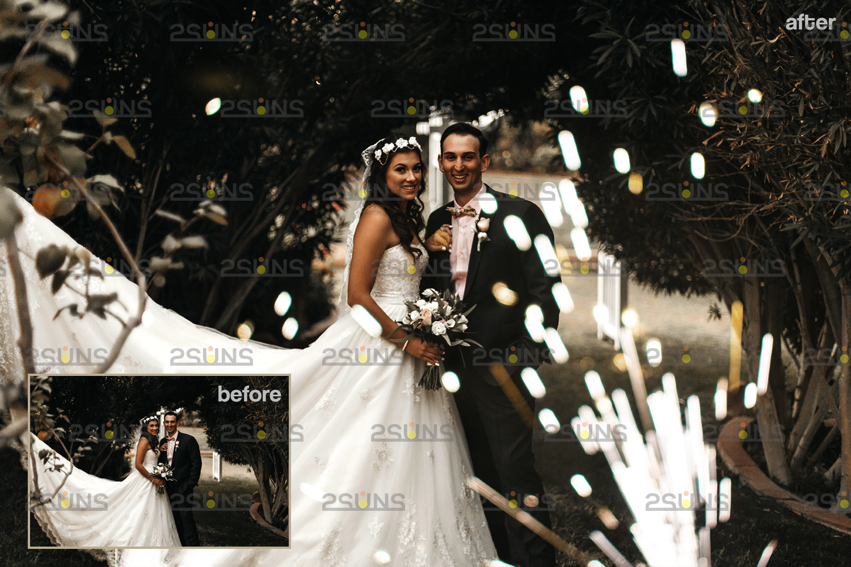 Sparkler overlay & Gold overlay, Fairy lights overlay, Wedding sparkler overlays, Bokeh lights, - 003 29 -