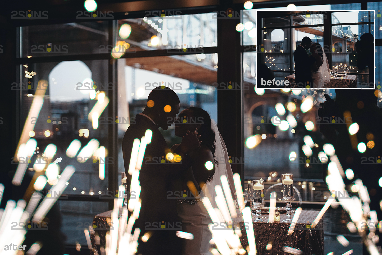 Sparkler overlay & Gold overlay, Fairy lights overlay, Wedding sparkler overlays, Bokeh lights, - 005 25 -