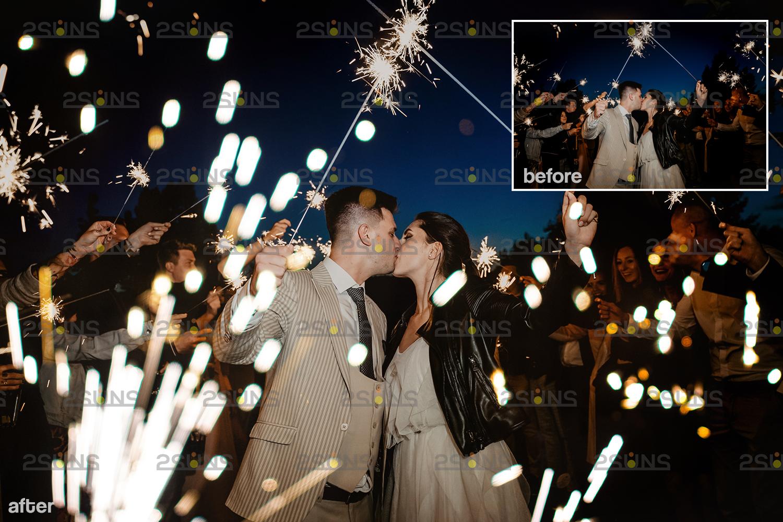 Sparkler overlay & Gold overlay, Fairy lights overlay, Wedding sparkler overlays, Bokeh lights, - 007 24 -