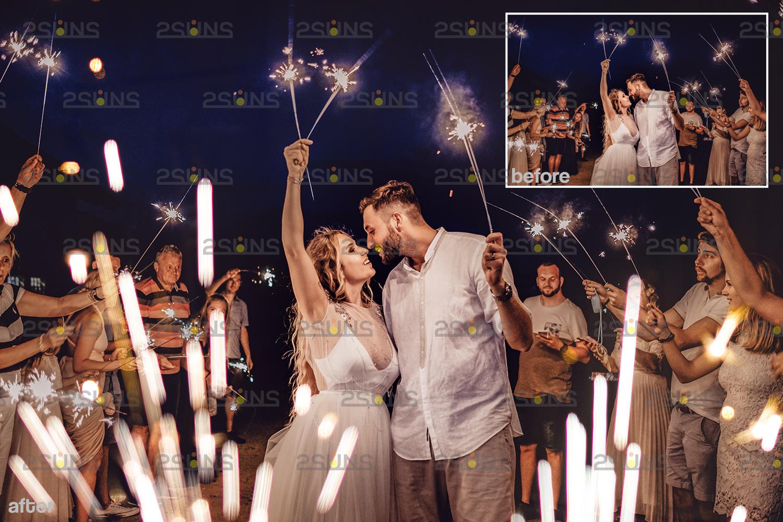Sparkler overlay & Gold overlay, Fairy lights overlay, Wedding sparkler overlays, Bokeh lights, - 008 23 -