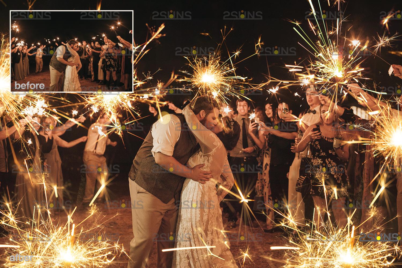 Sparkler overlay & wedding sparkler overlays, wedding overlay, circle light effect photoshop, bokeh - 002 27 -
