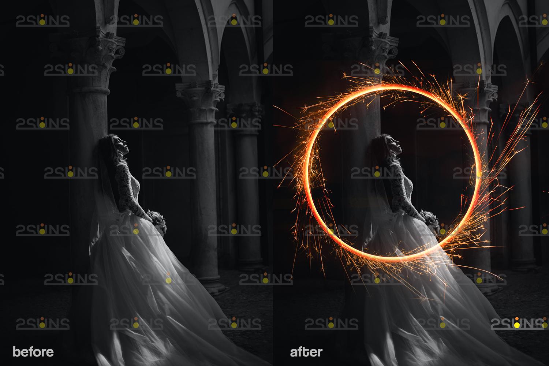 Sparkler overlay & wedding sparkler overlays, wedding overlay, circle light effect photoshop, bokeh - 004 27 -