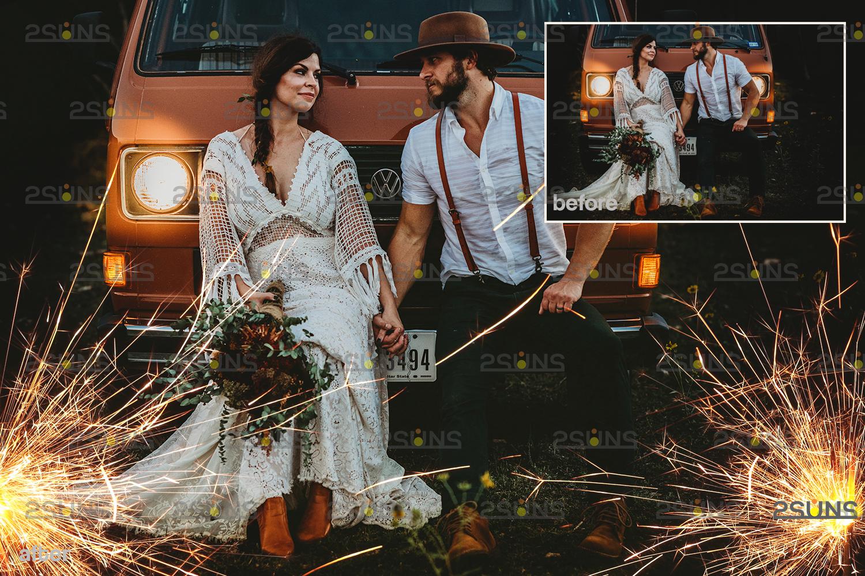 Sparkler overlay & wedding sparkler overlays, wedding overlay, circle light effect photoshop, bokeh - 007 25 -