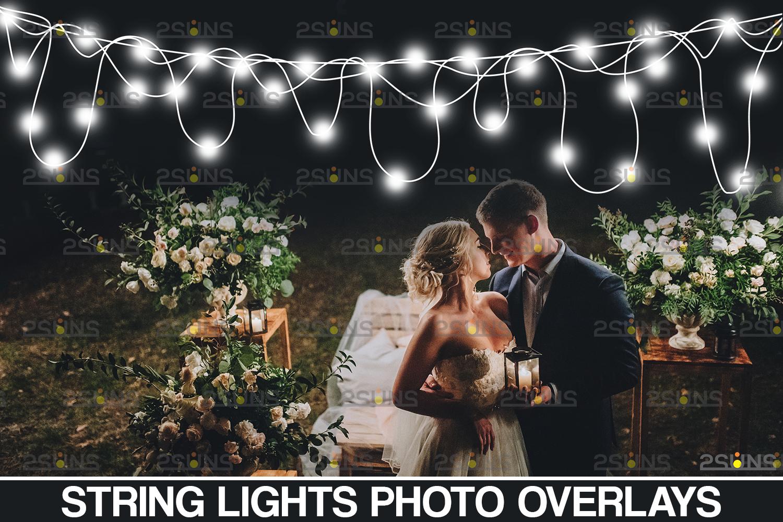 String lights overlay photoshop & Sparkler overlay, String light overlay, Christmas light overlay - 001 31 -