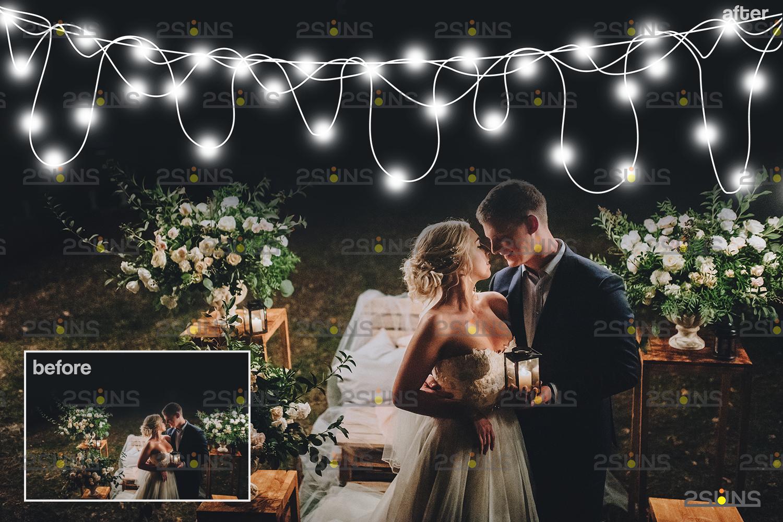 String lights overlay photoshop & Sparkler overlay, String light overlay, Christmas light overlay - 002 30 -