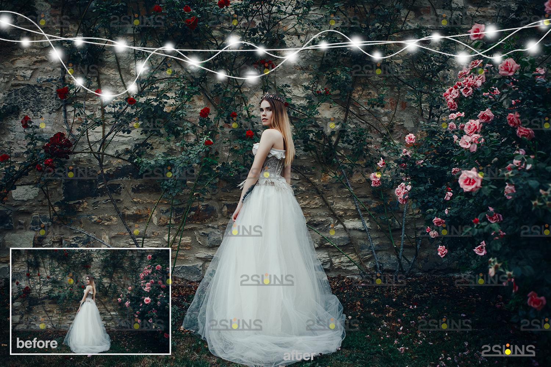 String lights overlay photoshop & Sparkler overlay, String light overlay, Christmas light overlay - 005 30 -