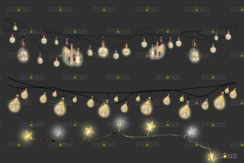 String lights overlay photoshop & Sparkler overlay, String light overlay, Christmas light overlay - 006 29 -