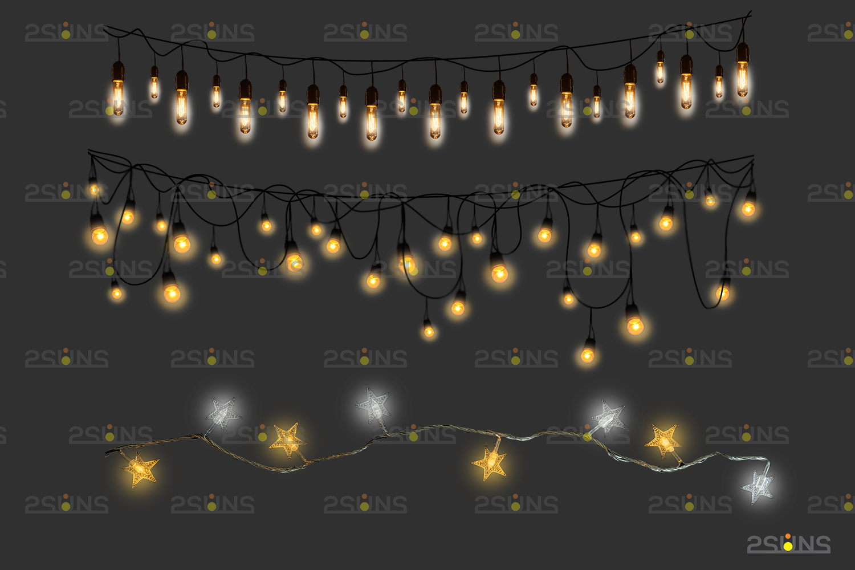 String lights overlay photoshop & Sparkler overlay, String light overlay, Christmas light overlay - 007 28 -