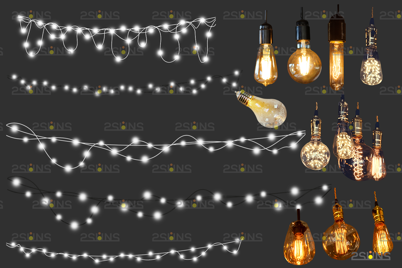 String lights overlay photoshop & Sparkler overlay, String light overlay, Christmas light overlay - 008 27 -