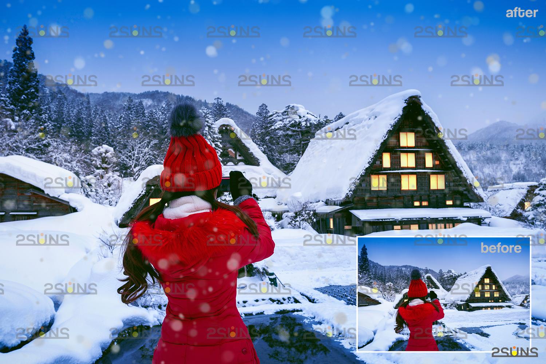 Snow flake overlays & Photoshop overlay: Falling Snow overlay, Winter overlays, Snow white clipart - 002 33 -