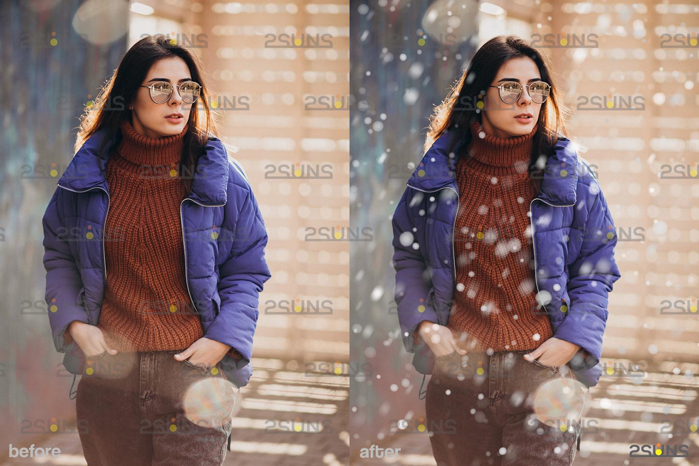Snow flake overlays & Photoshop overlay: Falling Snow overlay, Winter overlays, Snow white clipart - 004 33 -
