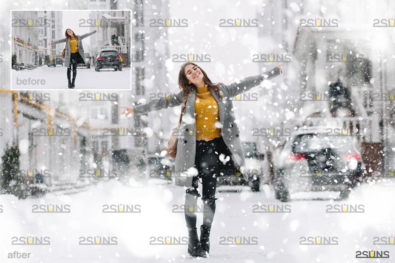 Snow flake overlays & Falling Snow overlay, Winter overlays, Snow white clipart, snow flake clip art - 002 35 -