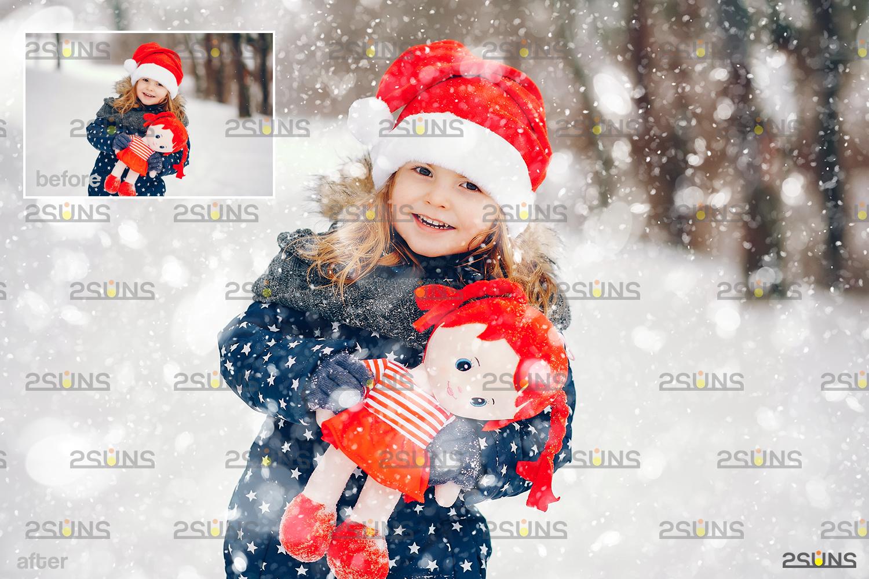 Snow flake overlays & Falling Snow overlay, Winter overlays, Snow white clipart, snow flake clip art - 004 35 -