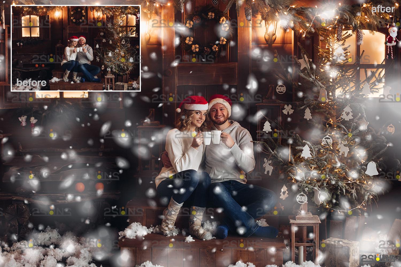 Snow flake overlays & Falling Snow overlay, Winter overlays, Snow white clipart, snow flake clip art - 007 33 -