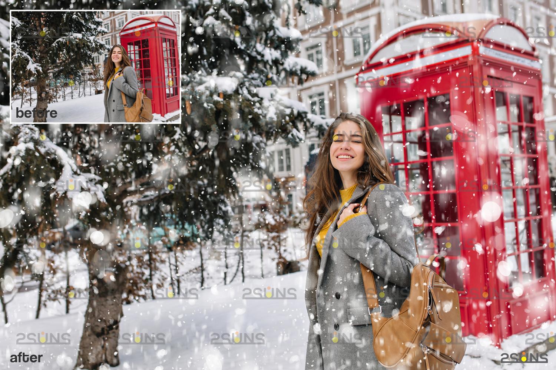 Snow flake overlays & Falling Snow overlay, Winter overlays, Snow white clipart, snow flake clip art - 008 32 -