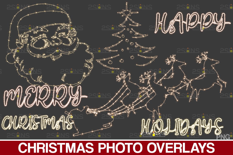 Sparkler overlay & Photoshop overlay, Christmas word overlay, Santa overlay, Christmas overlays - 005 41 -