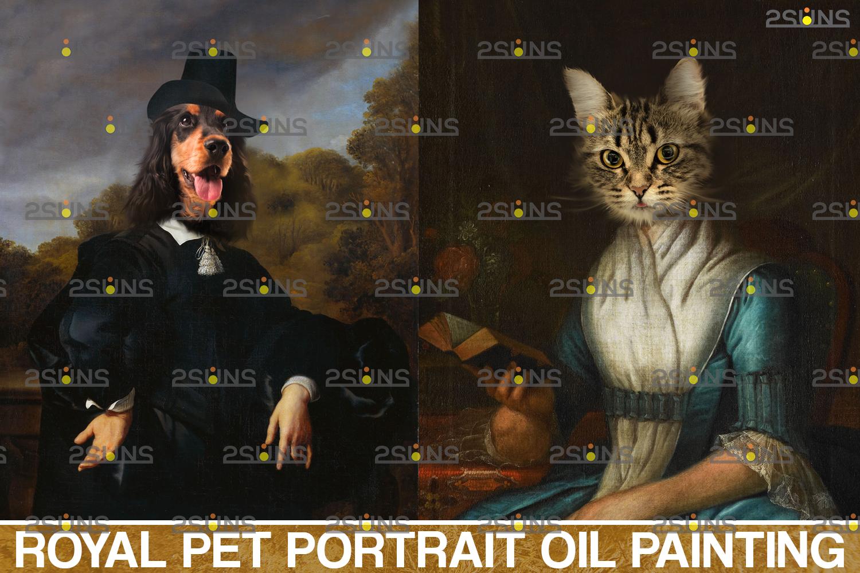 Royal Pet Portrait templates & Royal pet portrait digital background: Paw overlay, pet portrait - 001 41 -