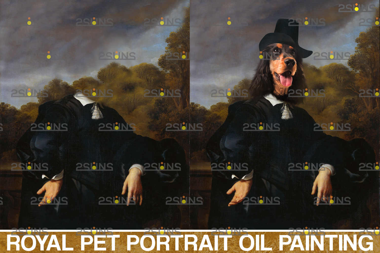 Royal Pet Portrait templates & Royal pet portrait digital background: Paw overlay, pet portrait - 003 46 -