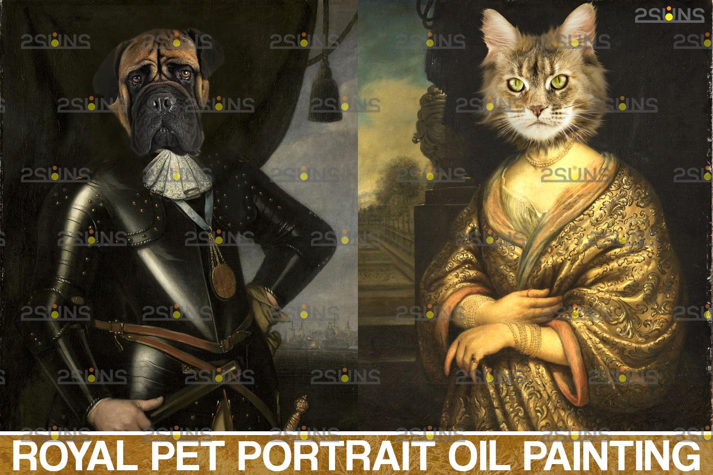 Royal Pet Portrait digital background & Digital pet portrait template, Paw overlay ,Pet portrait - 001 42 -