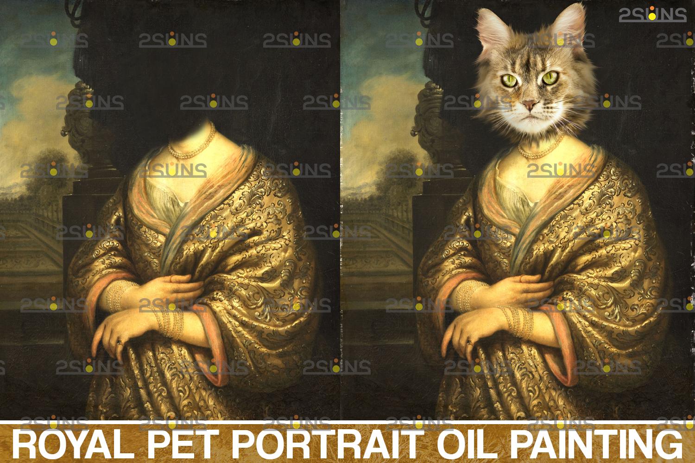 Royal Pet Portrait digital background & Digital pet portrait template, Paw overlay ,Pet portrait - 002 43 -