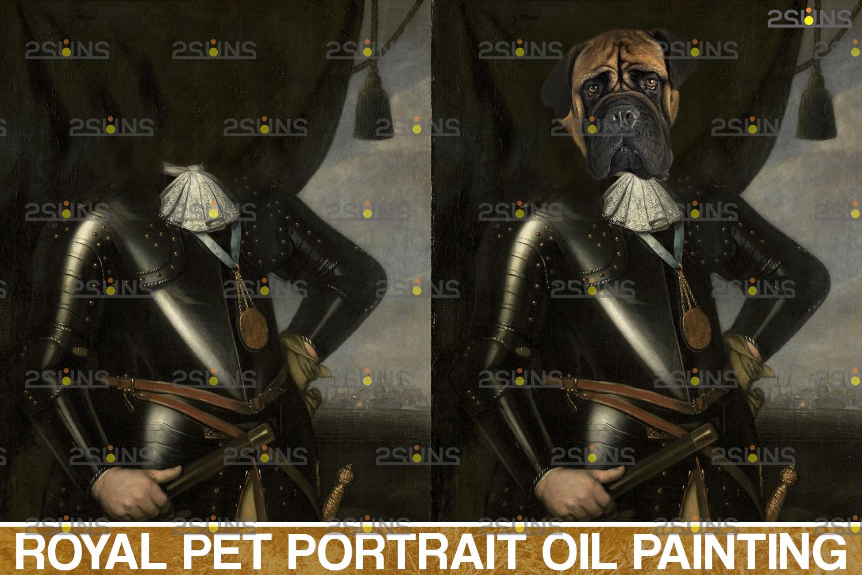 Royal Pet Portrait digital background & Digital pet portrait template, Paw overlay ,Pet portrait - 003 47 -