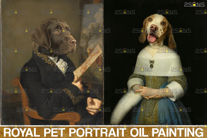 Royal Pet Portrait templates, Digital pet art, Pet painting background, Paw overlay, Pet portrait - 001 43 -