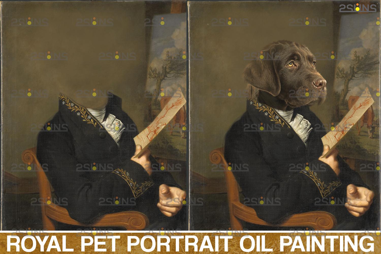 Royal Pet Portrait templates, Digital pet art, Pet painting background, Paw overlay, Pet portrait - 002 44 -