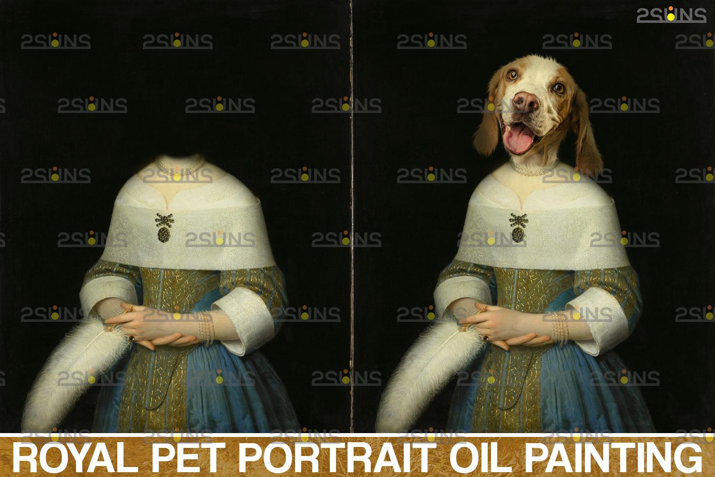 Royal Pet Portrait templates, Digital pet art, Pet painting background, Paw overlay, Pet portrait - 003 48 -
