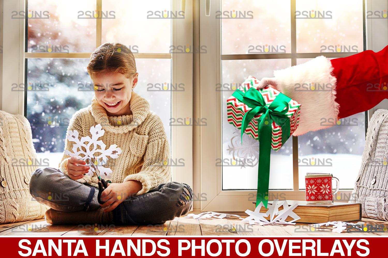 Santa hand overlay & Christmas overlay, Photoshop overlay: Santa overlay png, Gift box overlays - 001 46 -
