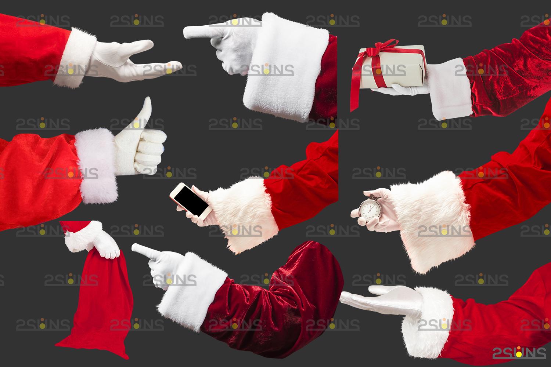 Santa hand overlay & Christmas overlay, Photoshop overlay: Santa overlay png, Gift box overlays - 002 48 -