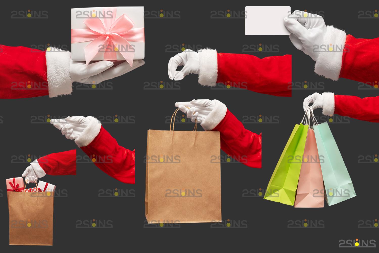 Santa hand overlay & Christmas overlay, Photoshop overlay: Santa overlay png, Gift box overlays - 003 52 -