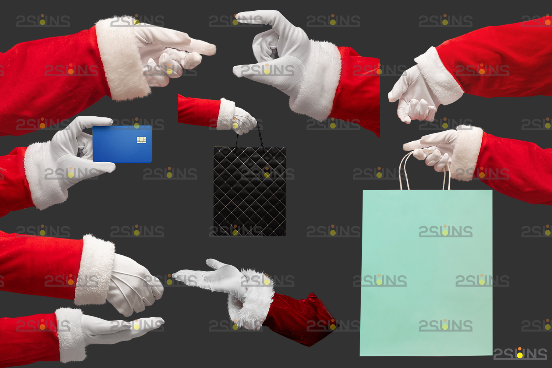 Santa hand overlay & Christmas overlay, Photoshop overlay: Santa overlay png, Gift box overlays - 004 45 -