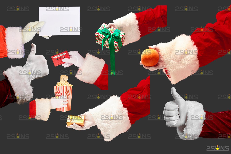 Santa hand overlay & Christmas overlay, Photoshop overlay: Santa overlay png, Gift box overlays - 005 45 -