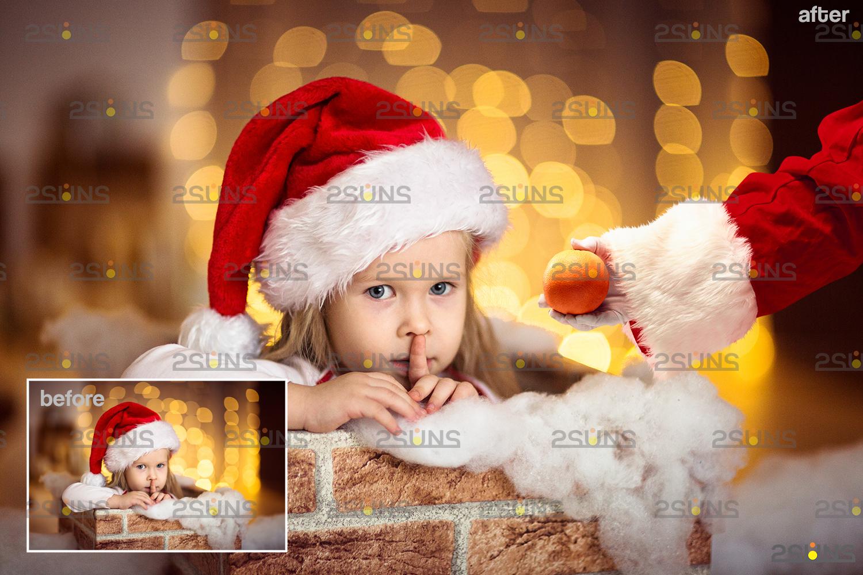 Santa hand overlay & Christmas overlay, Photoshop overlay: Santa overlay png, Gift box overlays - 006 43 -