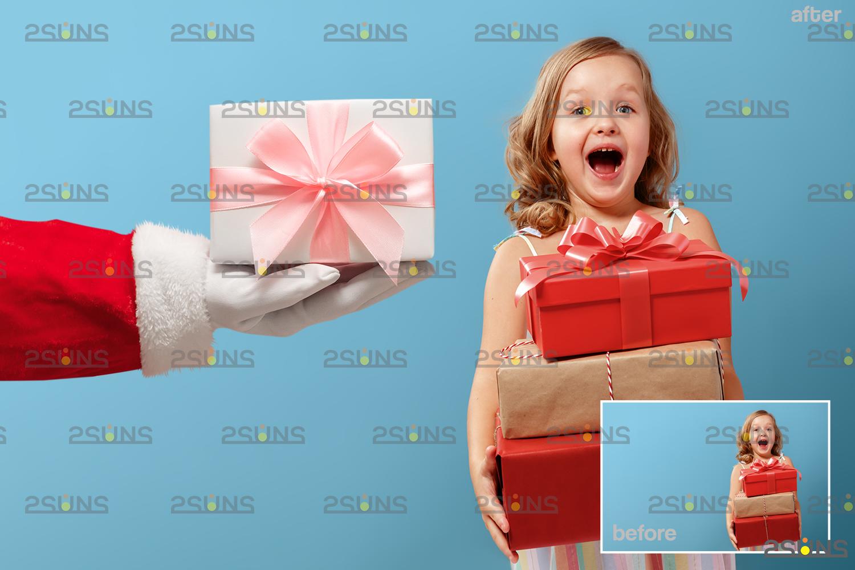 Santa hand overlay & Christmas overlay, Photoshop overlay: Santa overlay png, Gift box overlays - 007 42 -