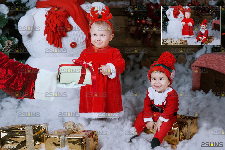 Santa hand overlay & Christmas overlay, Photoshop overlay: Santa overlay png, Gift box overlays - 008 41 -