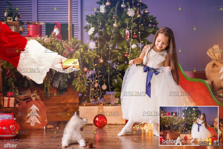 Santa hand overlay & Christmas overlay, Photoshop overlay: Santa overlay png, Gift box overlays - 009 36 -