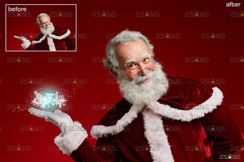 Christmas light overlay & Digital gold overlay: Photoshop overlay, Lamp light png files - 006 50 -
